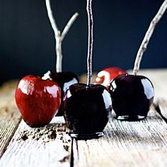Witchy Black Candy Apples