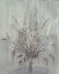 • michael raedecker • acrylic and thread on canvas