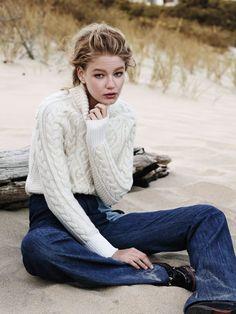 Hollie May Saker, Nadja Bender by Jason Kibbler W Magazine November 2015