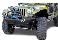 Body Armor Front High Clearance Bumper in Textured Black for Jeep Wrangler & Wrangler Unlimited JK Green Jeep Wrangler, 2015 Jeep Wrangler, Jeep Jk, Jeep Wrangler Unlimited, Morris 4x4 Center, Jeep Bumpers, Jeep Trails, Ski Rack, Jeep Parts