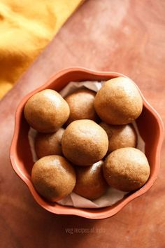 delicious ladoo recipes for festivals like diwali, dussehra, ganesh chaturthi etc. ladoos are a category of sweets in the indian cuisine which are popular. this collection consists of ladoo recipes which are made on various festive Coconut Barfi Recipe, Peda Recipe, Macaroon Recipes, Sweets Recipes, Cooking Recipes, Cooking Tips, Vegetarian Recipes, Indian Desserts, Recipes