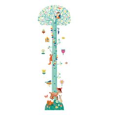 Keeping track of your child's growth has never been so fun and colourful with this Springtime removable wall stickers height chart from Djeco. Designers Guild, Newborn Sleeping Bag, Home Interior Accessories, Room Deco, Traditional Toys, Height Chart, Removable Wall Stickers, Personalized Baby Gifts, Blossom Trees