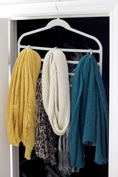 Scarf Hanger Organizer DIY Tutorial Shower Rings