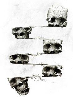 Poster | SKULL 3 von Ali Gulec | more posters at http://moreposter.de