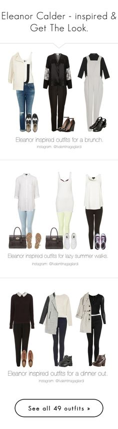 """Eleanor Calder - inspired & Get The Look."" by francesca-valentina-gagliardi ❤ liked on Polyvore featuring Topshop, Dune, KG Kurt Geiger, Unique, Mulberry, Billabong, Vans, Converse, Forever 21 and Burberry"