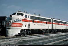 CB&Q 167 Chicago Burlington & Quincy Railroad EMD F7(A) at Chicago, Illinois