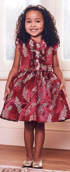 b27059120083 Love this David Charles Girls EID Red & Gold Brocade Party Dress.  Perfect special