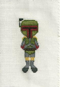 Boba Fett Cross Stitch Pattern by geekystitchery on Etsy, $3.00