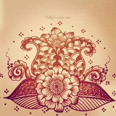flower henna drawing