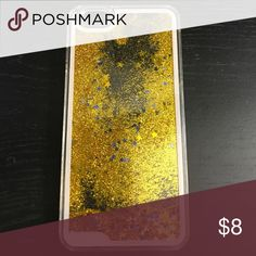 iPhone 6 plus Liquid Glitter Stars Case Gently used ... just like new. Accessories Phone Cases