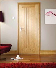 Get the LPD Mexicano Oak Door Solid Core today. Ken's Yard offer a great range of Interior Oak Doors and a wider range of Internal Doors. Hallway Colours, Doors Interior, Oak Doors, Interior Door Styles, Interior Architect, Fire Doors, House Redesign, Internal Oak Doors, Internal Doors