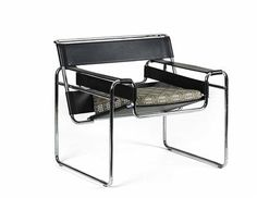 Marcel Breuer Stoel : Marcel breuer leather and chrome cantilever chair italy chairs