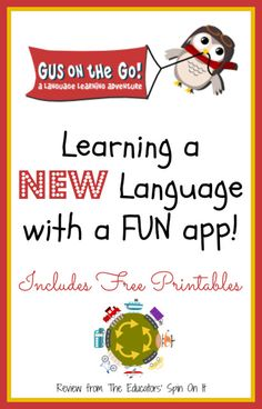 Gus on the Go {Review  Giveaway} Discover a Fun Way to Learn a New Language with kids.  Choose from 14 Different Languages!