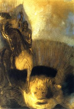 Saint George and the Dragon, Odilon Redon, ca.1892.