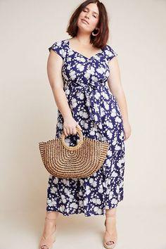 Honey Run Womens Plus Size Striped Bamboo Racerback Summer Dress Swim Coverup