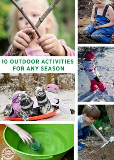 "Outdoor activities for any season! Click here for anytime of year ""get active"" inspiration!"