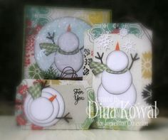 Snowman Tags by dini - Cards and Paper Crafts at Splitcoaststampers