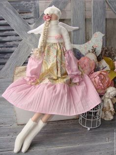 Купить или заказать Джейн.тильда шебби шик в интернет-магазине на Ярмарке Мастеров. Интерьерная авторская кукла ангелочек ручной работы принесет тепло и уют в ваш дом или квартиру.Уникальная, неповторимая, душевная авторская кукла…