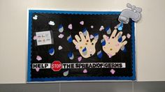 Hand washing bulletin board Hippie Home Decor, Cute Home Decor, School Projects, Projects For Kids, School Ideas, Hand Hygiene Posters, Staff Bulletin Boards, Ra Themes, Nurse Office