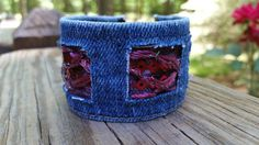 Check out this item in my Etsy shop https://www.etsy.com/listing/280505462/upcycled-denim-bracelet-with-lace-and