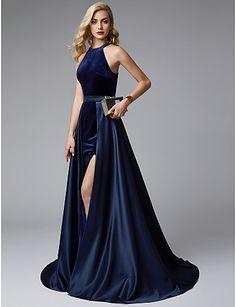 c3f30d36c57a   159.99  Γραμμή Α Με Κόσμημα Ουρά Σατέν   Βελούδο Ντε πιες Χοροεσπερίδα   Επίσημο  Βραδινό Φόρεμα με Με Άνοιγμα Μπροστά με TS Couture®