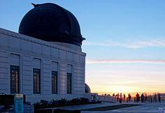 グリフィス天文台から見た夕日。  見逃せない絶景スポットですねー!