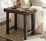 Wooden side table with metal frame from Pottery Barn