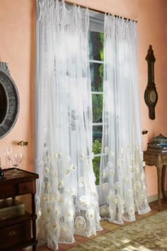 Annalisa sheer panel..  from soft surroundings.... just bought for the master bedroom.