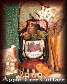 hand painted, vintage, kerosene lantern