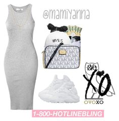 """""""Hotline Bling - Drake 6✨"""" by mamiyanna ❤ liked on Polyvore featuring NIKE, October's Very Own, Glamorous, Gucci, Fremada and Michael Kors"""