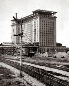   Michigan Central Train Station Construction C. 1911