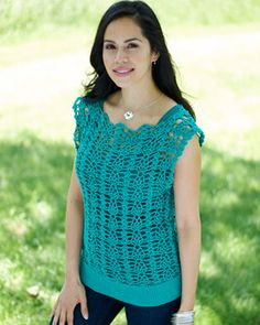 Heat up your summer wardrobe with this lightweight tunic! Shown in Bernat Cotton-ish by Vickie Howell.