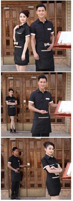 popular professional women men uniform for hotel waiter - Dealsel