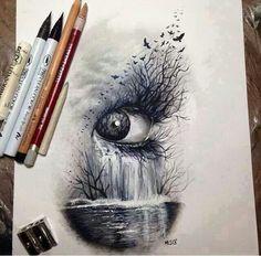 Eye, waterfall