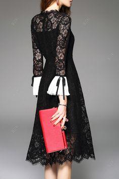 Black lace dress #style #fashion