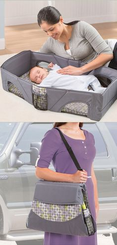 Travel Bed + Diaper Station