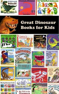 Dinosaur Crafts - Dinosaur Preschool Activities & Dinosaur Daycare Games at Kids. Dinosaur Books For Kids, Dinosaur Theme Preschool, Dinosaur Activities, The Good Dinosaur, Preschool Books, Book Activities, Toddler Activities, Preschool Activities, Childrens Books
