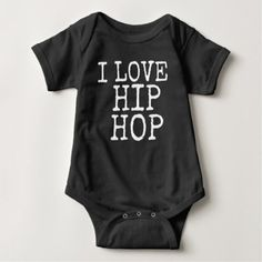 bestselling baby bodysuit I love hip hop hipster - shower gifts diy customize creative