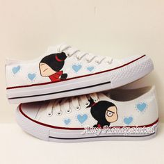 PUCCA Hand Painted flat Men Women Sneakers by AmyHandPainted, $85.00