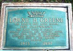 Lorne Greene's Grave (photo)  Hillside Cemetery , Clover City , Ca.