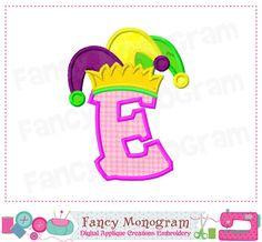 Mardi Gras Crawfish Embroidery Design Machine Applique by
