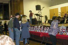 Cow spot raffle bags at 15th Annual Barn Dance Fundraiser.