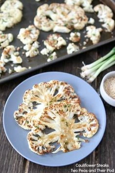 Cauliflower Steaks with Ginger-Soy Sauce