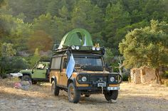 Land Rover Defender 110 Tdi Sw. Soft Top canvas. Adventure Camper. Camel Colour.