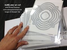 Store your Framelits in a 6x6 album! - Stamp Your Art Out!