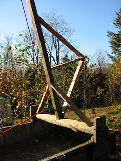 17. Improvised Scaffolding, Cranes & Jacks | Riversong HouseWright A Frame Cabin, A Frame House, Wooden Scaffolding, Crane Lift, Gantry Crane, Farm Projects, Roof Installation, Wood Structure, Antique Tools