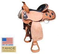 Tahoe Black Diamond Stingray Western Pleasure Saddle USA Leather