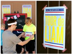 Tour de Liam, Biking birthday party theme, bike race, outdoor activites, arizona parties