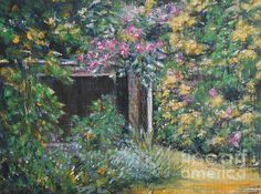 Cottage Garden 4 - painting by Jane See. Fine art prints and posters for sale. #cottagegarden #paintingsforsale #janesee