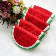 Cheap bag navy, Buy Quality bag cooler directly from China bag boy bag Suppliers: Womens Watermelon Coin Bag Wallet Purse Key Zipper Bag Cosmetic Purse Bag Brand New and High Quality Coin Bag, Coin Purse Wallet, Coin Purses, Pouch Bag, Pouches, Watermelon Bag, Sewing Crafts, Sewing Projects, Plush Pattern
